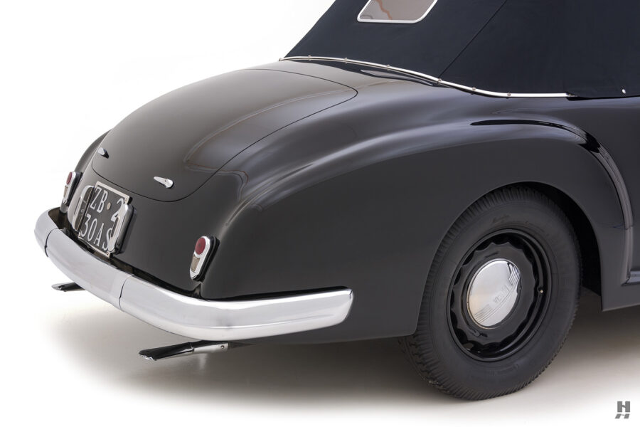 back of vintage 1938 lancia cabriolet car for sale at Hyman in St. Louis