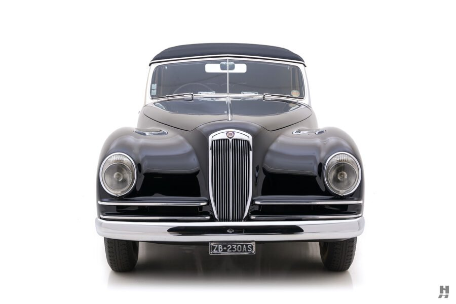 front of classic 1938 lancia convertible for sale at Hyman dealers