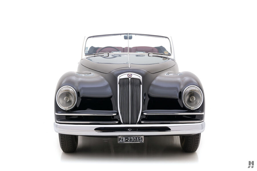 front of classic 1938 lancia astura cabriolet car for sale