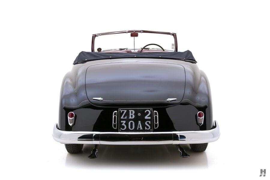 back of classic 1938 lancia astura cabriolet