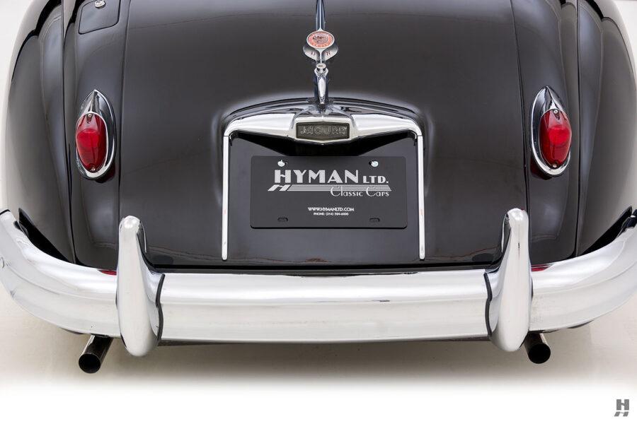 backside of antique jaguar coupe for sale at hyman classic cars