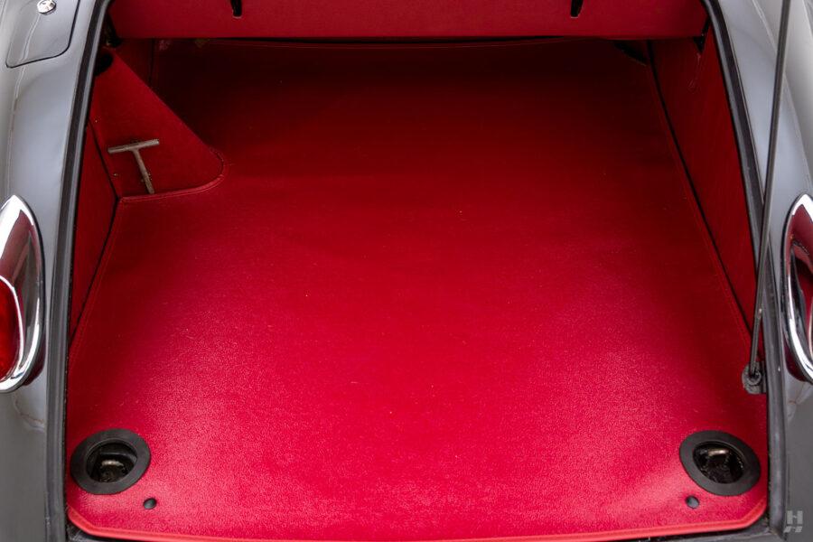 trunk of antique jaguar coupe for sale at hyman classic cars