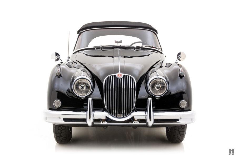 frontside of antique jaguar coupe for sale at hyman classic cars