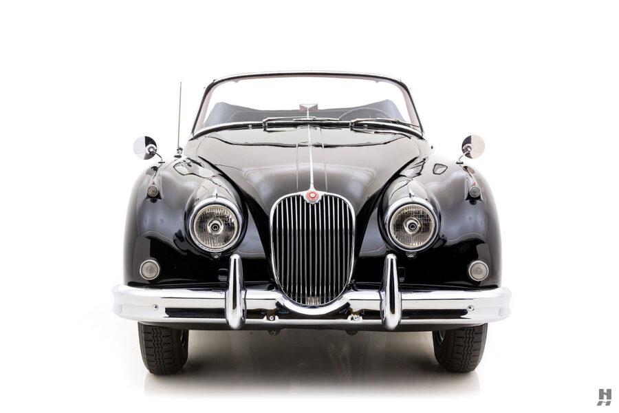 front of antique jaguar coupe for sale at hyman classic cars