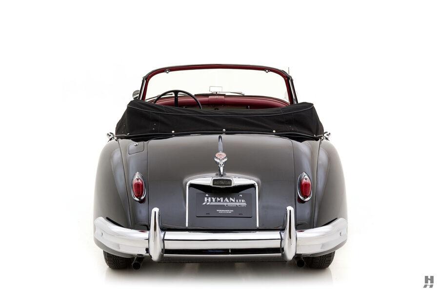 back of antique jaguar coupe for sale at hyman classic cars