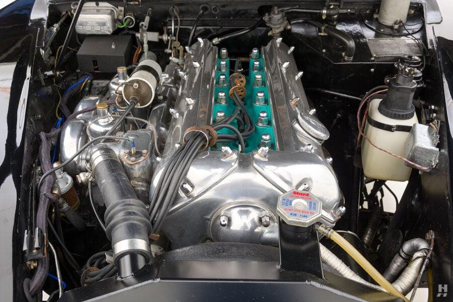 engine of antique jaguar coupe for sale at hyman classic cars
