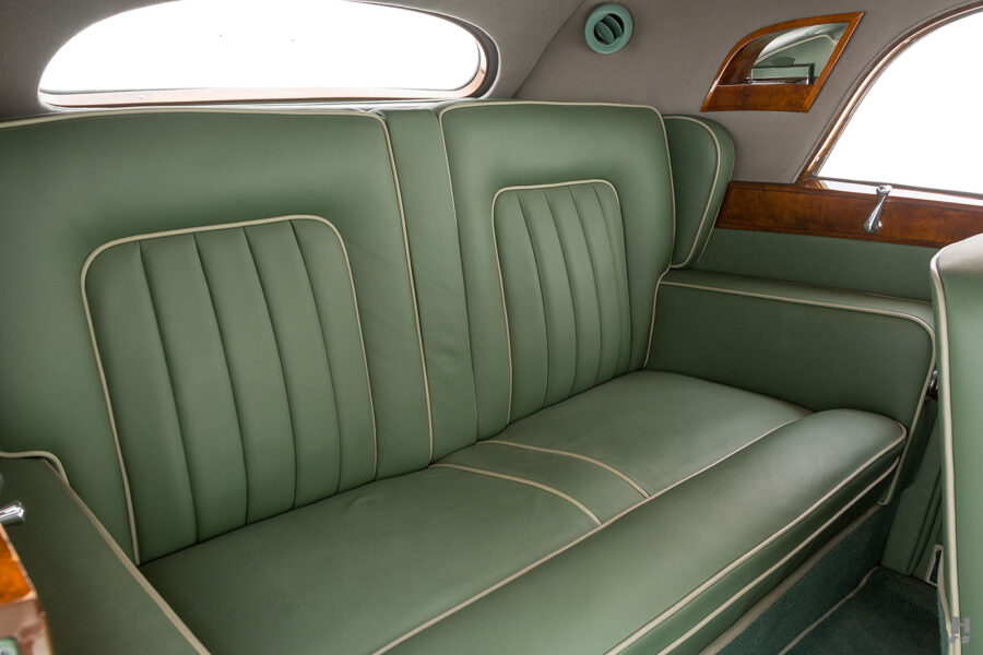back seats of classic 1951 bentley ward coupe for sale at hyman cars