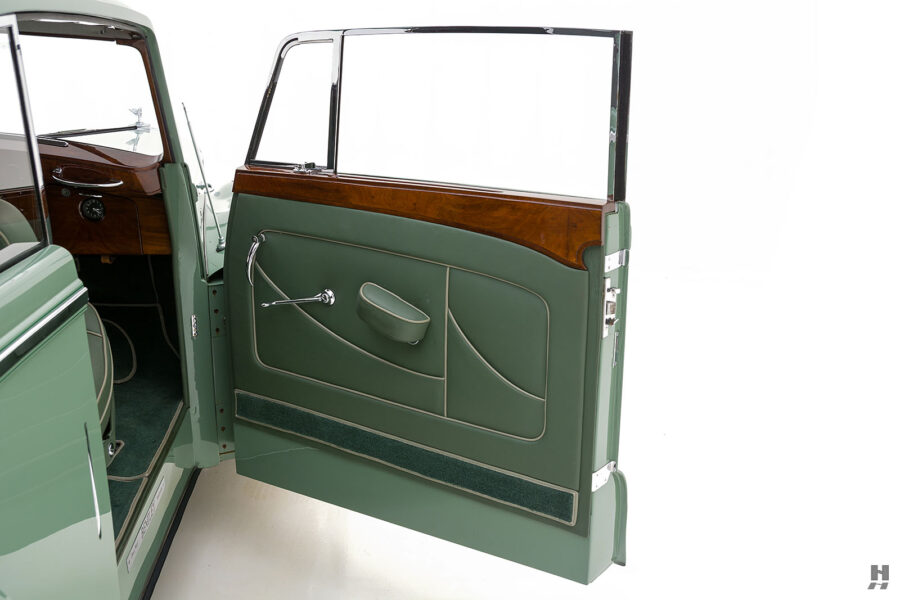 passenger's side door of classic 1951 bentley ward coupe for sale at hyman cars