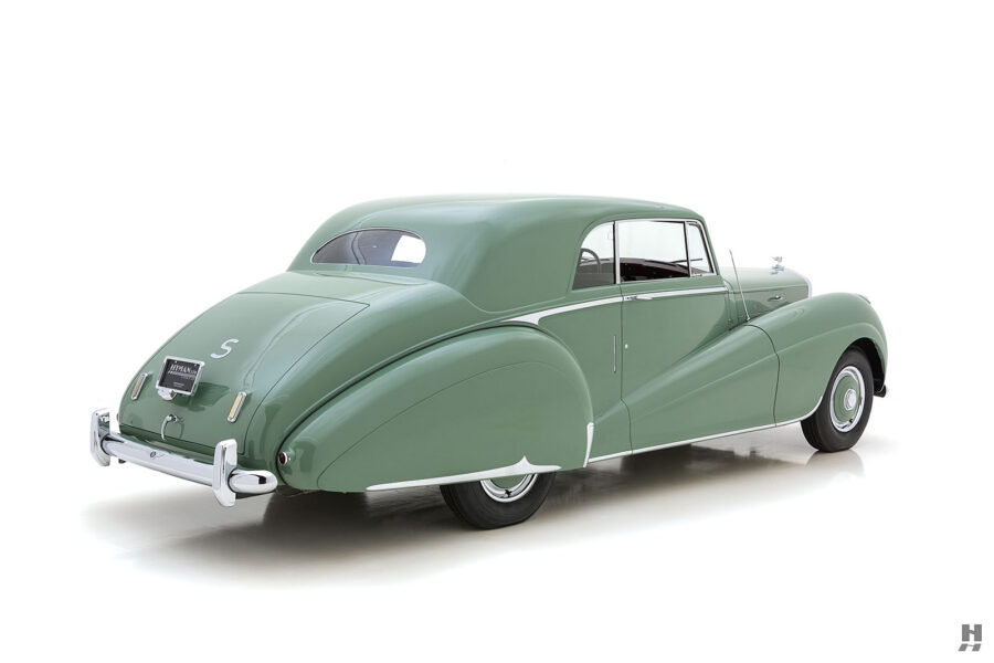 angled backside of classic 1951 bentley ward coupe for sale at hyman cars
