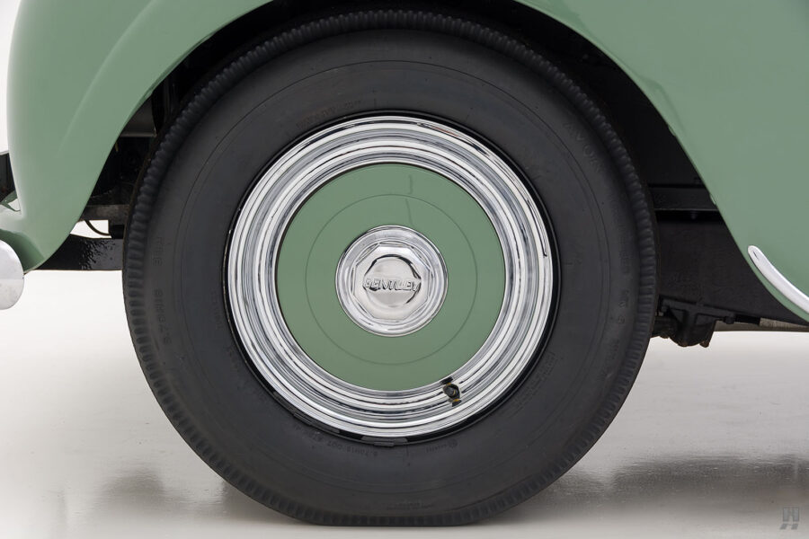 back tire of classic 1951 bentley ward coupe for sale at hyman cars