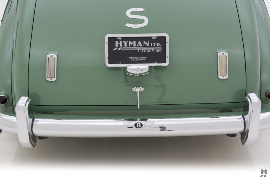 backside of classic 1951 bentley ward coupe for sale at hyman cars