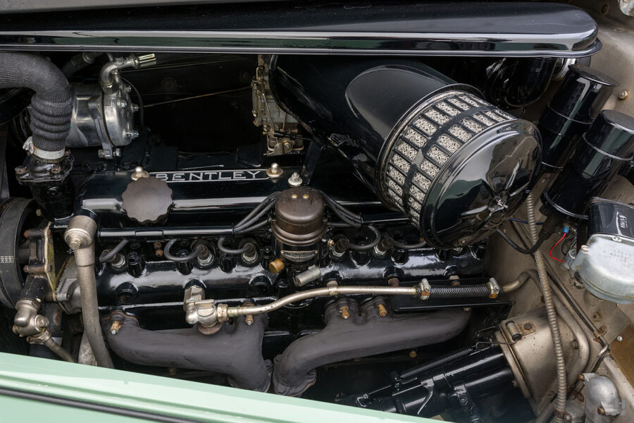 engine of classic 1951 bentley ward coupe for sale at hyman cars