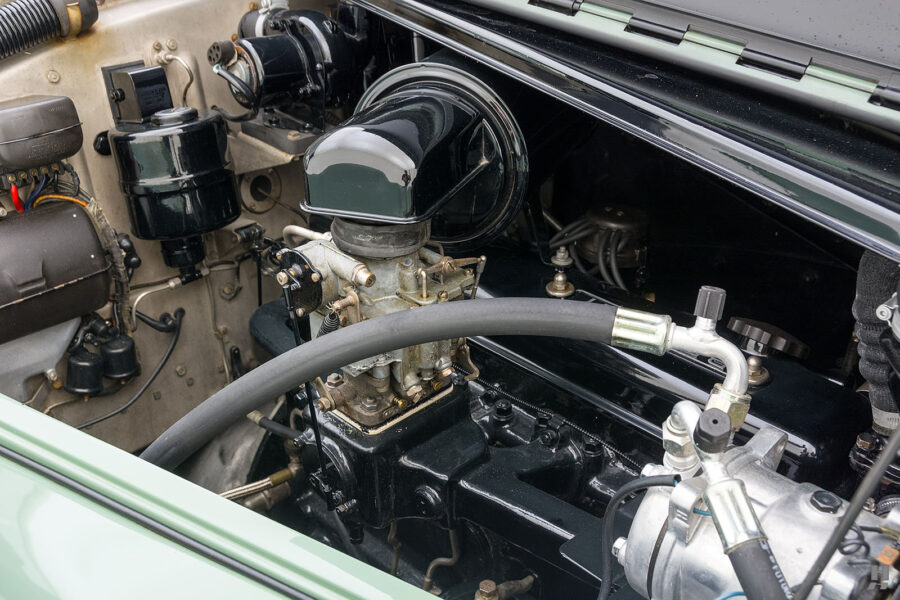 engine on classic 1951 bentley ward coupe for sale at hyman cars