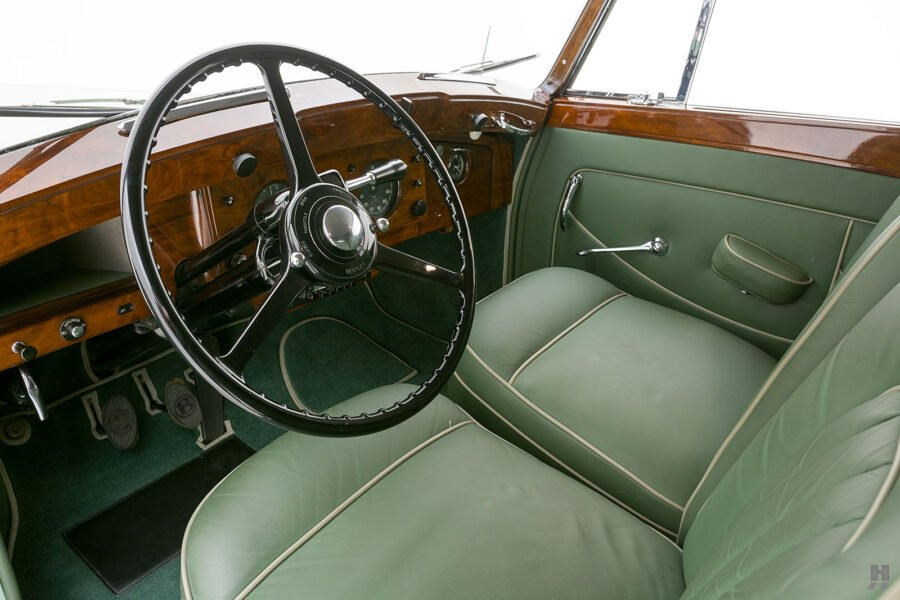 front interior of classic 1951 bentley ward coupe for sale at hyman cars