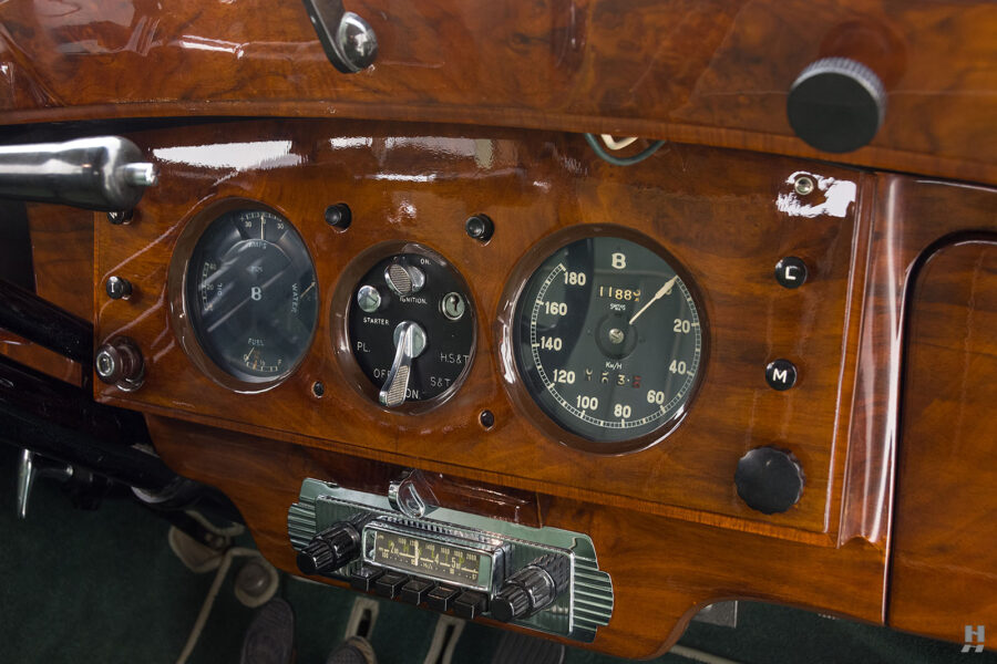 dashboard on classic 1951 bentley ward coupe for sale at hyman cars