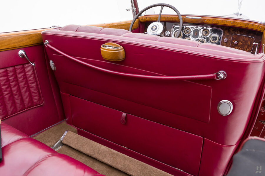 Backseat Divider on Vintage 1934 Packard Convertible Sedan - Find More Classic Cars For Sale at Hyman