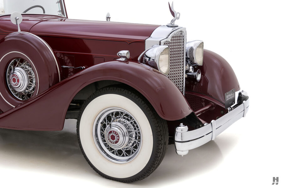 Angled Front View of Classic 1934 Packard Sedan - Find More Cars For Sale at Hyman Consignment Dealers Near You