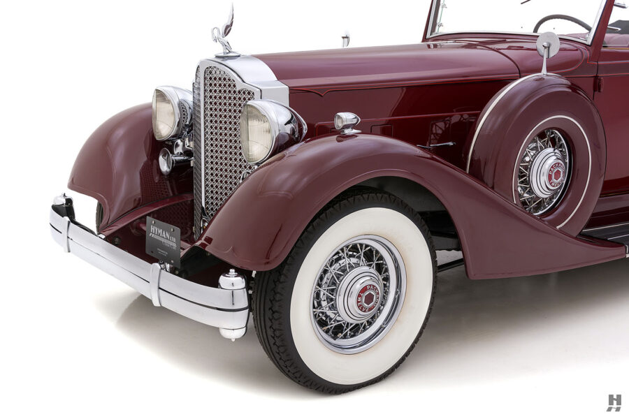 Angled Front View of Classic 1934 Packard Sedan - Find More Antique Cars For Sale at Hyman Dealers Near You