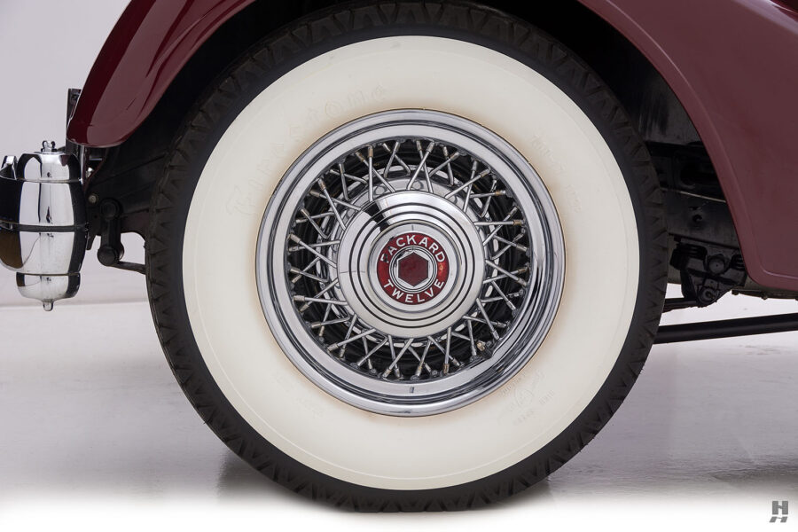 Close Up of Tire on Vintage 1934 Packard Sedan - Find More Classic Cars For Sale at Hyman Dealers in St. Louis, Missouri