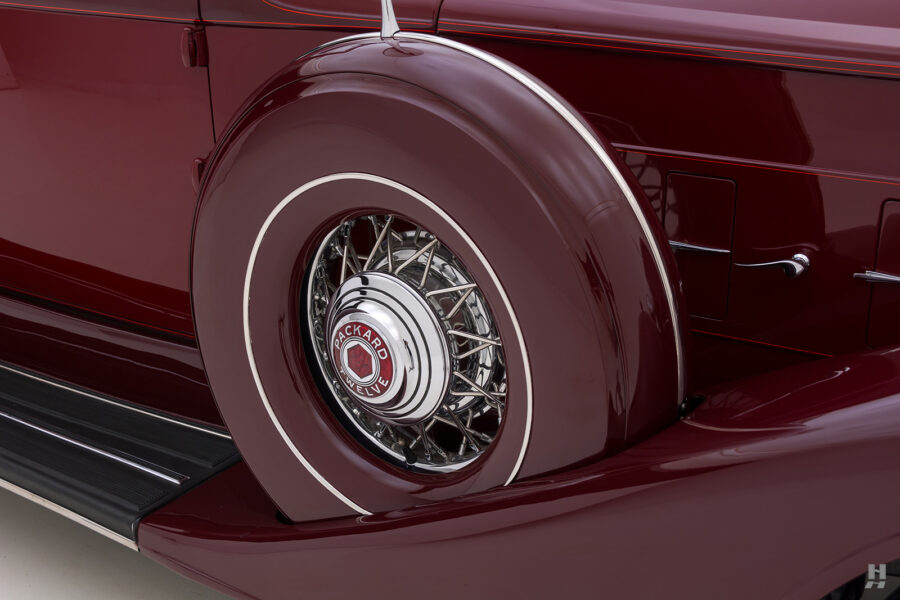 Close Up of Spare Tire on Classic 1934 Packard Sedan - Find More Antique Cars for Sale at a Hyman Consignment Dealer Near You