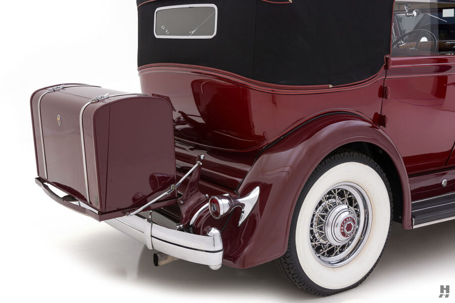 Back Side View of Classic 1934 Packard Sedan - For Sale Online at Hyman Automobile Dealers in St. Louis