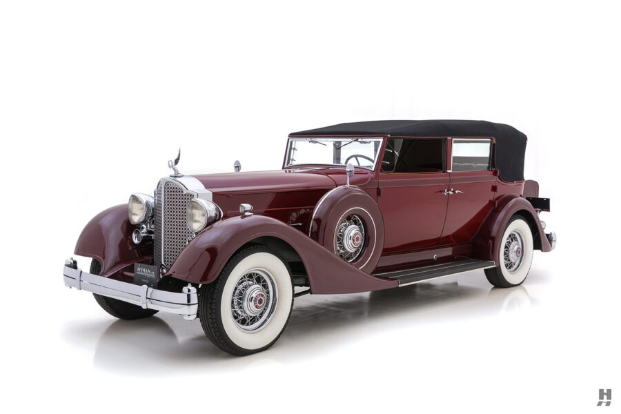 Front Side View of Classic 1934 Packard Sedan For Sale Online at Hyman Car Dealers in St. Louis
