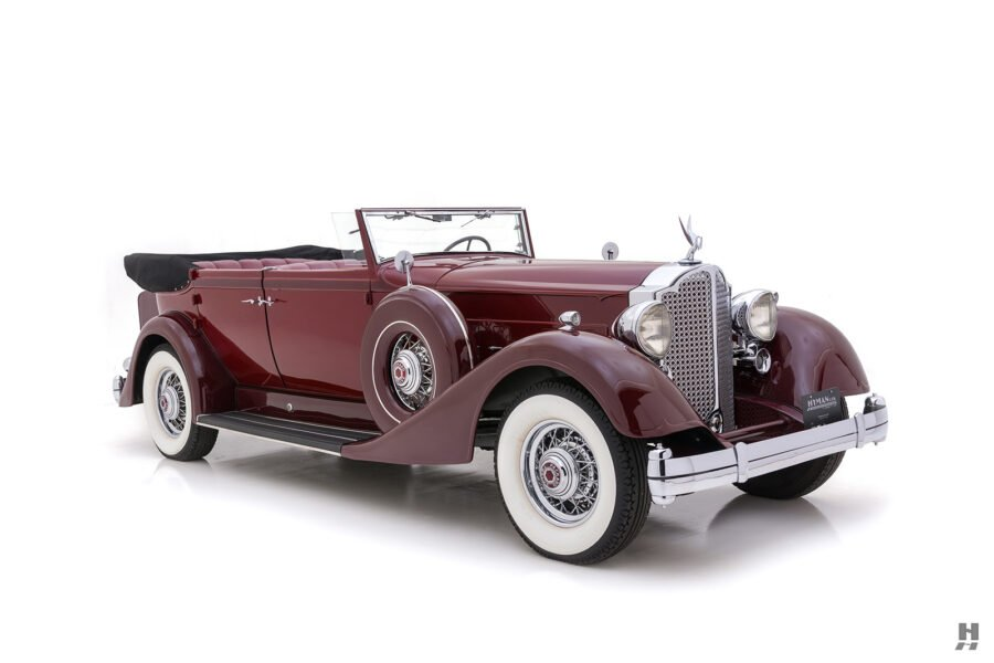 Front Side View of Classic 1934 Packard Sedan - Find More Cars For Sale Online at Hyman in St. Louis, Missouri