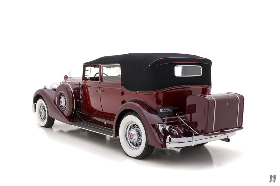 Angled Backside View of Vintage 1934 Packard Convertible Sedan For Sale at Hyman Consignment Dealers
