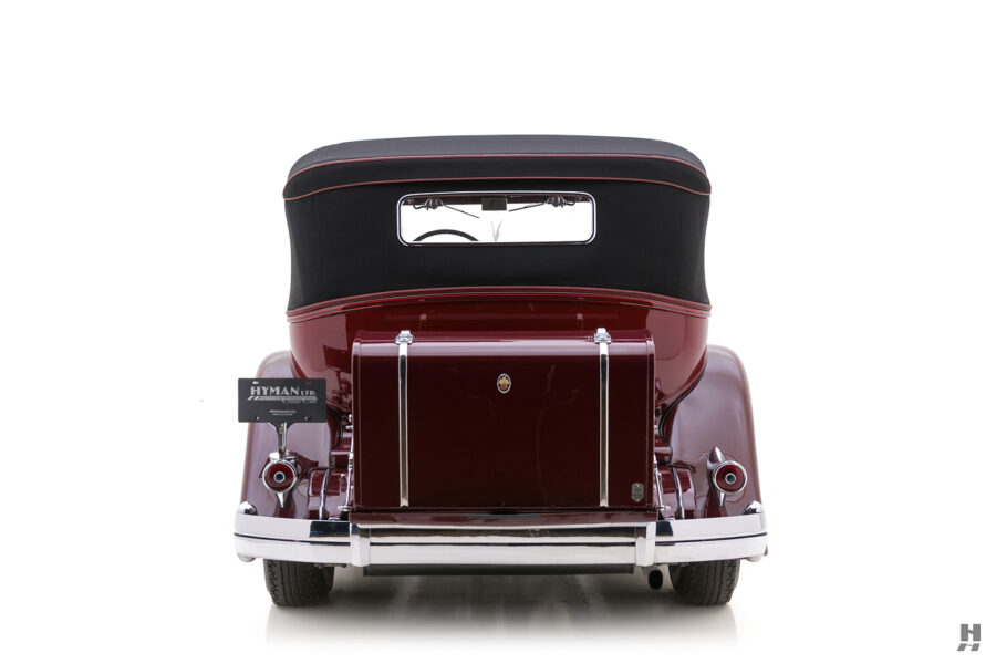 Back View of Vintage 1934 Packard Sedan For Sale at Hyman Classic Car Dealers in St. Louis, Missouri