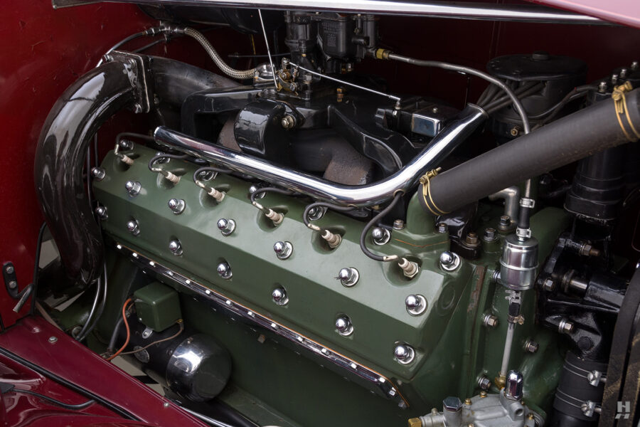 Engine on Vintage 1934 Packard Convertible Sedan - Find More Cars For Sale at Hyman Dealers in St. Louis