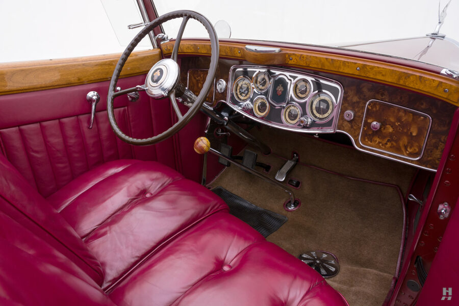 Front Seat Interior View of Vintage 1934 Packard Convertible Automobile - Find More Cars for Sale at Hyman Dealers in St. Louis
