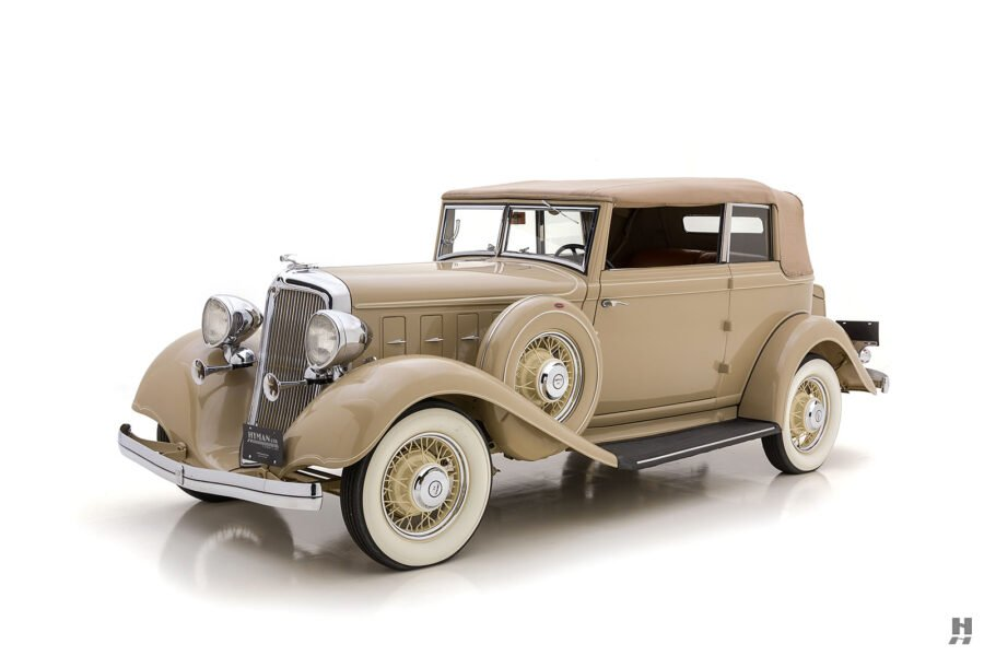 Full View of Restored Classic 1933 Chrysler Car for Sale at Hyman Car Dealership