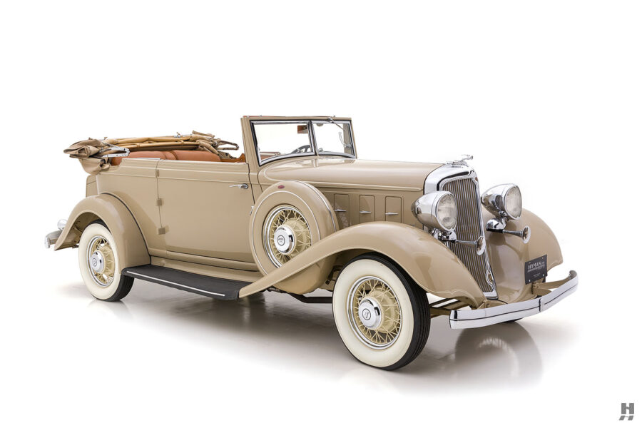 Image of Fully Restored Classic 1933 Chrysler at Hyman Car Dealership in Missouri