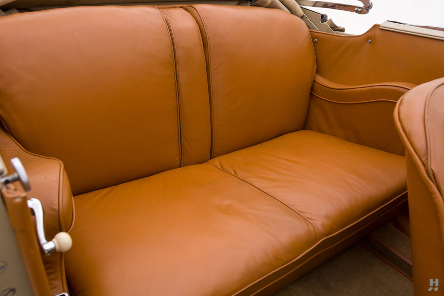 Backseat of Classic Chrysler Car for Sale in St. Louis at Hyman