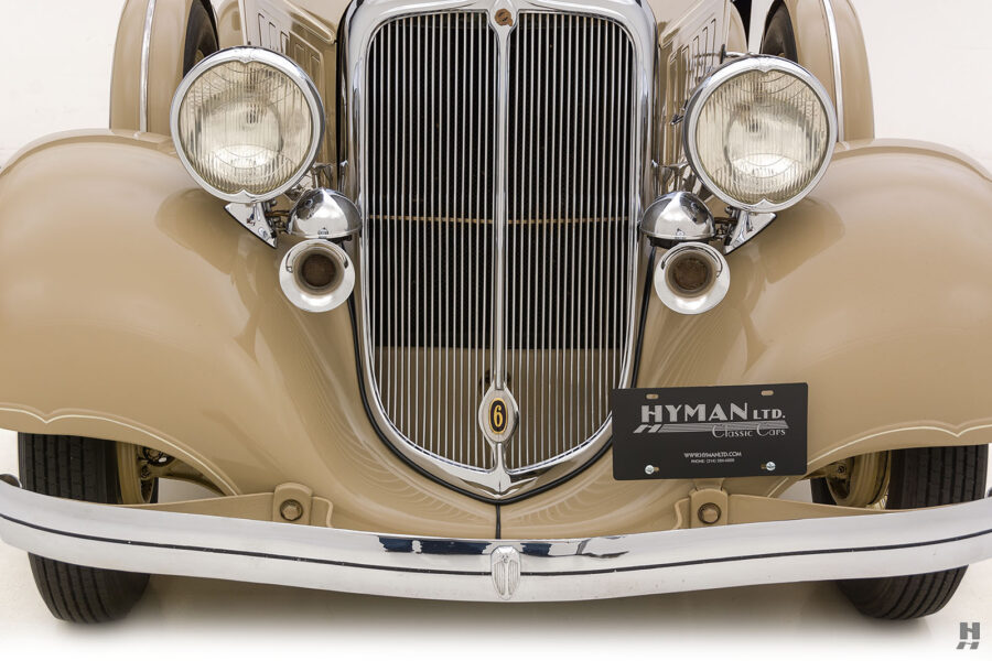 Front of a Vintage Chrysler Car at Hyman for Sale
