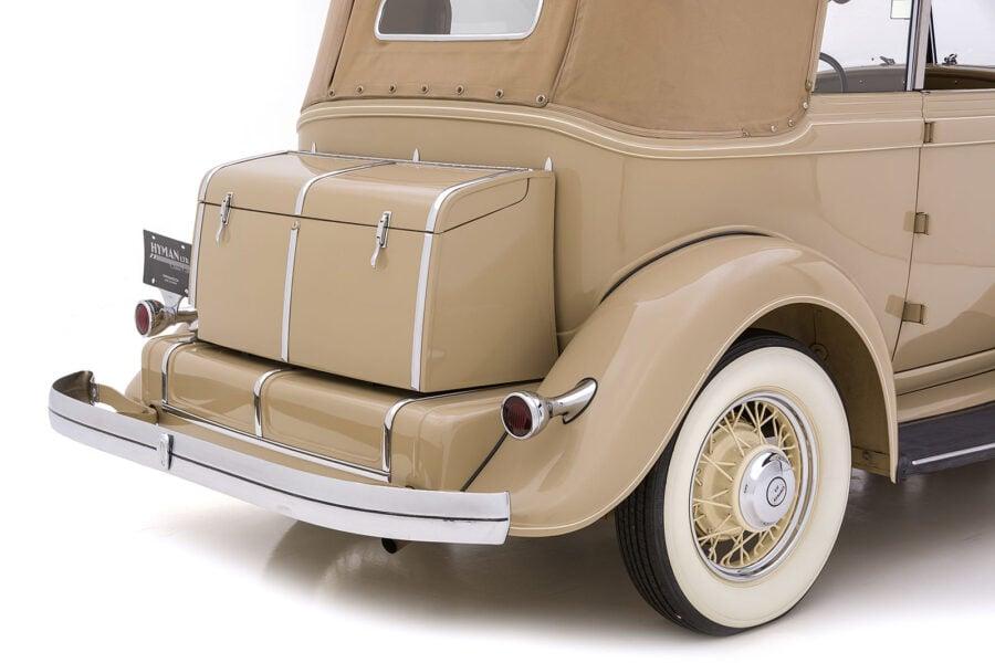 Rearview of Old Chrysler Car at Hyman - A Vintage Car Dealer in St. Louis, Missouri