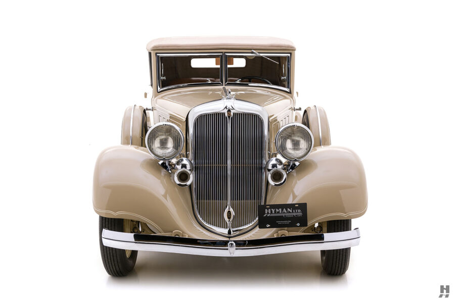 Front End of Classic 1933 Chrysler For Sale at Hyman Car Dealership