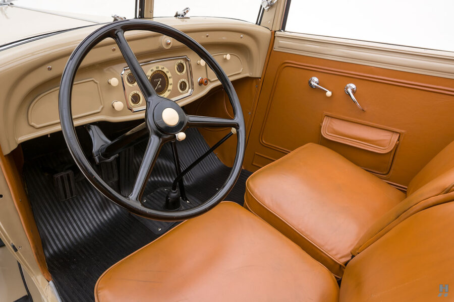 Inside of View of Chrysler - A Vintage Car for Sale at the Hyman Dealership