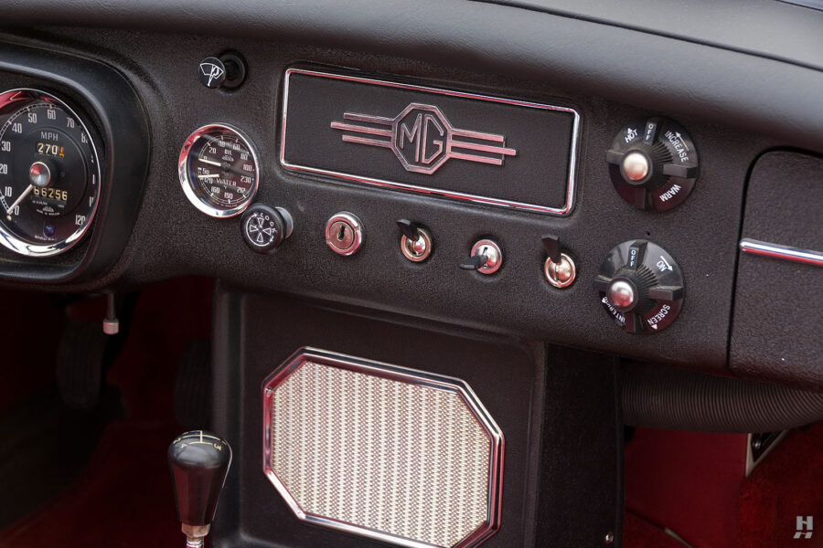 View of the Dash from a Classic 1963 Roadster - Find For Sale at Hyman - A Reputable Car Dealership