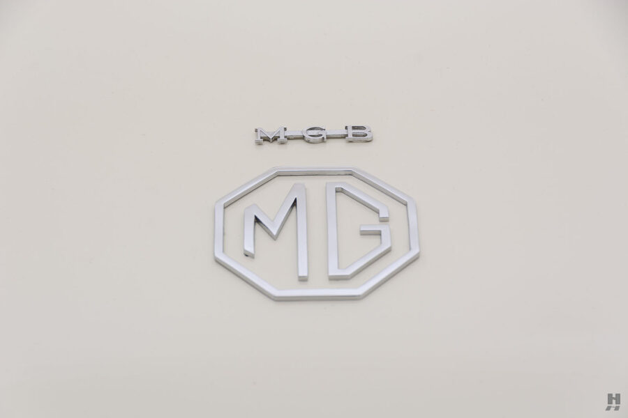 MGB Logo on the Classic Collectible 1963 Roadster - Find For Sale at Hyman Vehicle Consignment at Location Nearest You