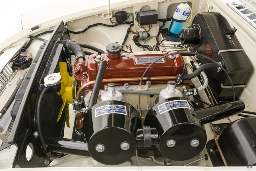 Image of 1963 Classic Collectible Car Engine - At Hyman Cars - A Consignment Dealership in St. Louis, Missouri