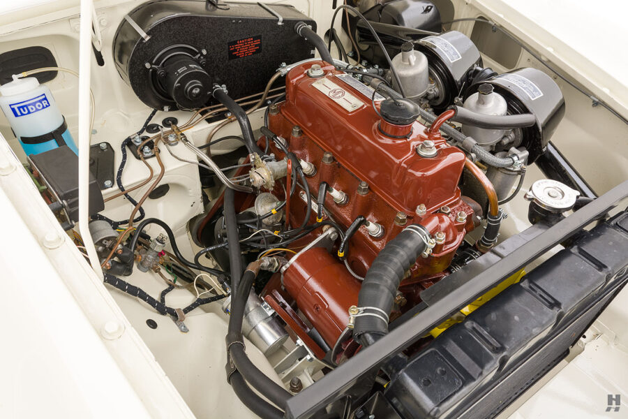 Angled View of 1963 Roadster's Engine - Hyman Auto Dealership in St. Louis, Missouri