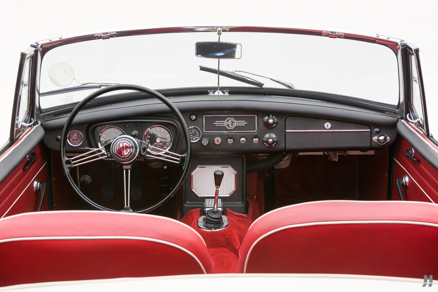 Direct View of Front Seats and Dash in Old Classic 1963 Car - Find More Rare Cars at Hyman Auto Dealership in St. Louis, Missouri