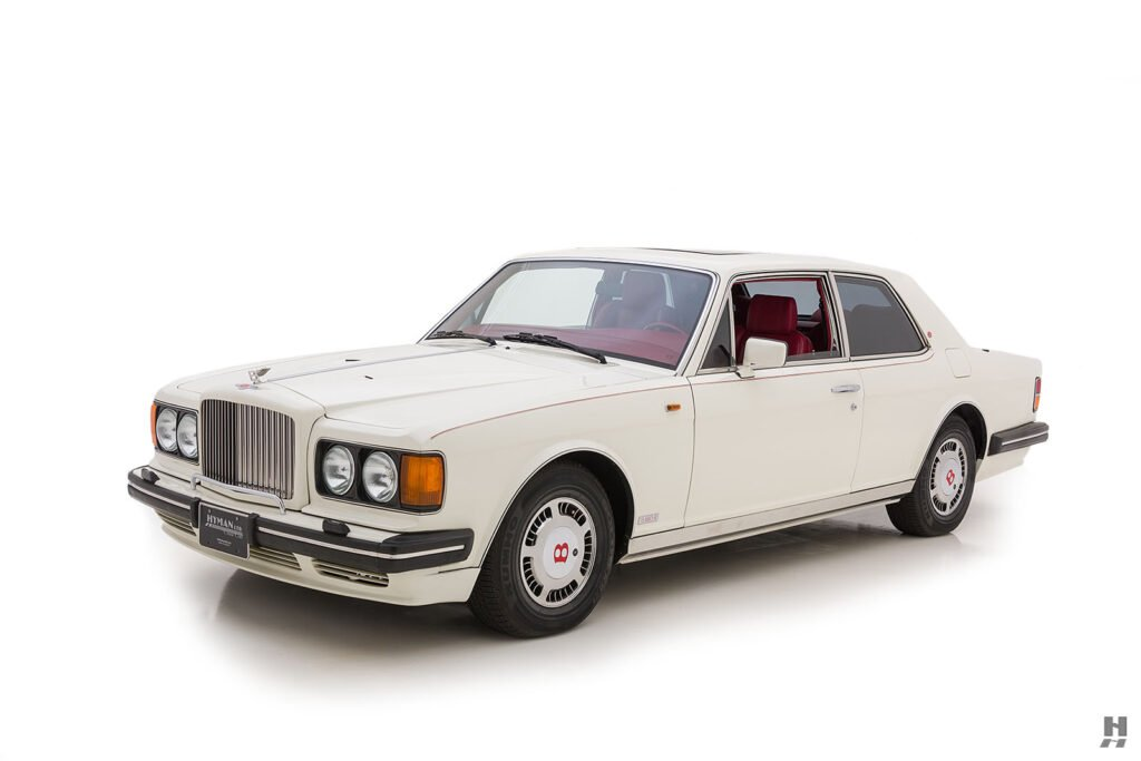 angled frontside of old bentley turbo for sale at hyman classic cars