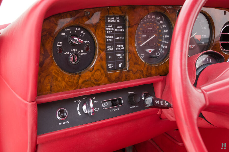car controls on old bentley turbo for sale at hyman classic cars