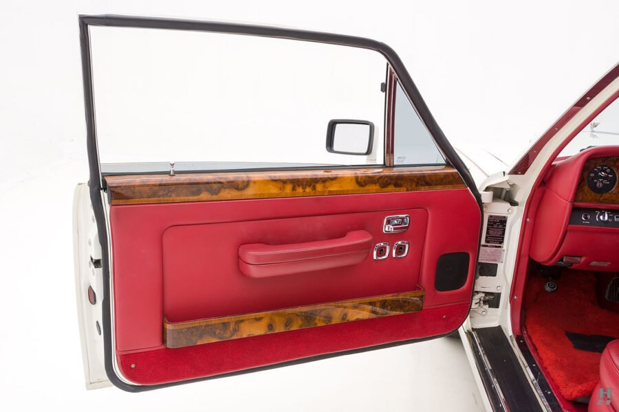 driver's side door of old bentley turbo for sale at hyman classic cars