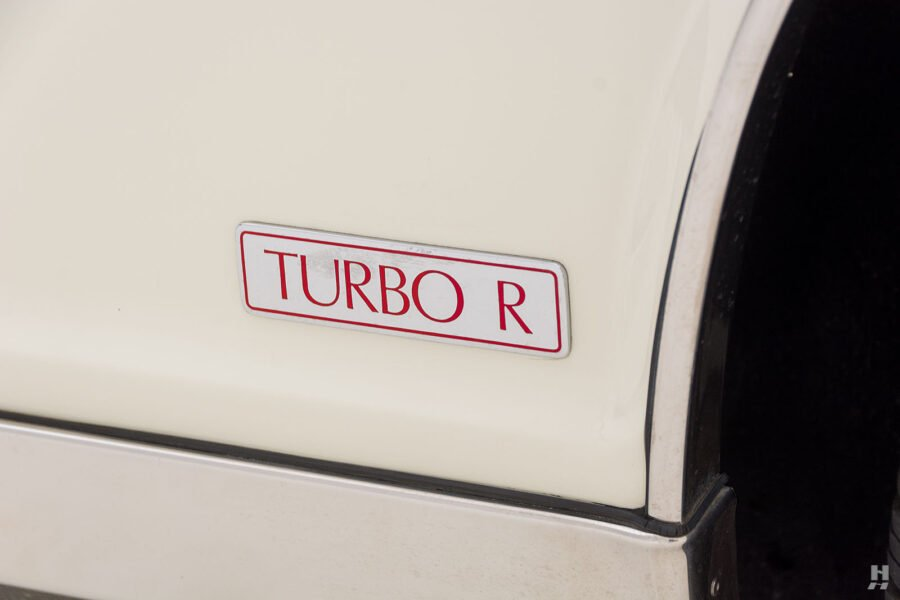 close up of turbo logo on old bentley for sale at hyman classic cars