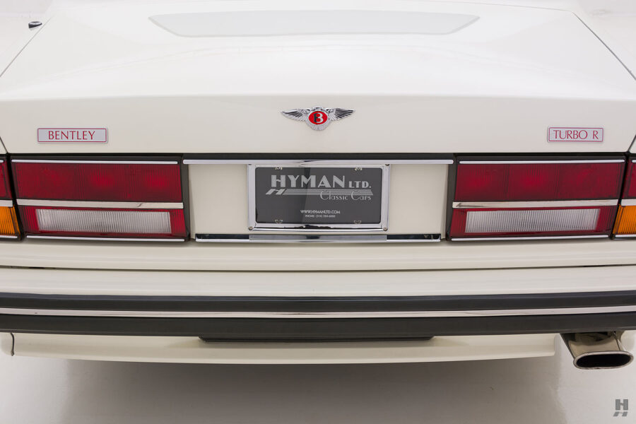 backside of old bentley turbo for sale at hyman classic cars