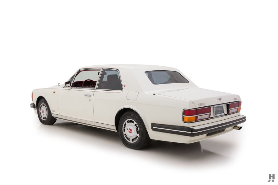 angled backside of old bentley turbo for sale at hyman classic cars