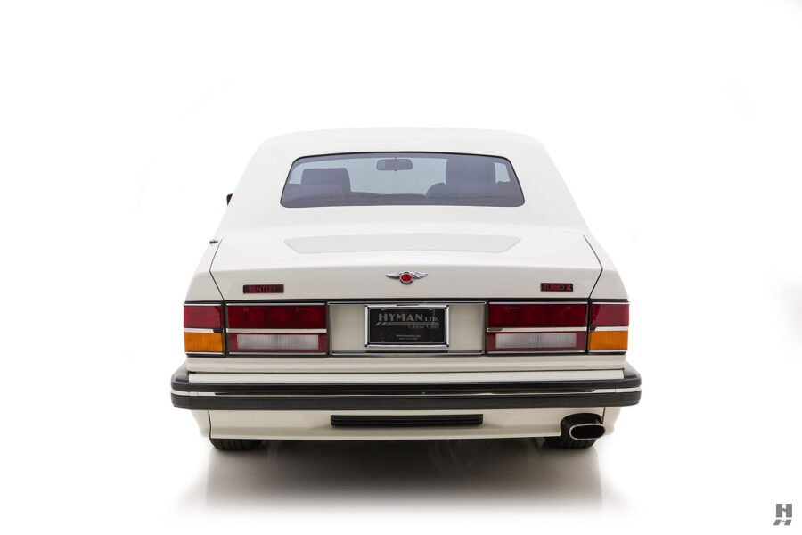back of old bentley turbo for sale at hyman classic cars